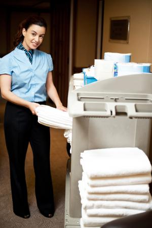 Professional hotel staff uniforms give guests peace of mind and are an added security measure.
